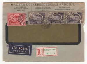 1950 HUNGARY Registered Cover BUDAPEST - LUDWIGSHAFEN GERMANY Foreign Trade Bank