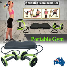 ABS Abdominal Exercise Double Wheels Ab Roller Gym Fitness Slimming Equipment