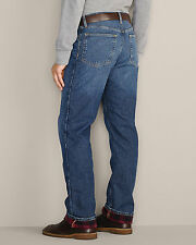 Mens Size 32x34 Eddie Bauer Relaxed Fit Flannel Lined Denim Jeans NWT