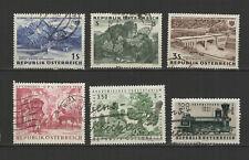 AUTRICHE 6 timbres oblitérés anciens / T2532