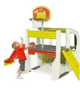 Smoby Fun Centre Playhouse with Slide and Basketball Basket House Table