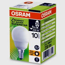 1 Osram Dulux Superstar Classique CL P 6W = 25W E14 Compact