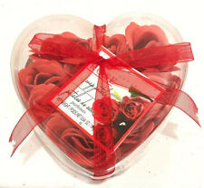 Heart Shaped Scented Rose Soap Petals With Set of 2 Make-up Bags