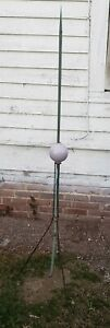 Antique Lightning Rod With Purple Glass Ball Copper Rod