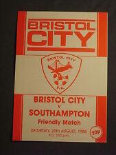 Bristol City v Southampton, Friendly  20th August 1988