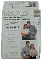 McCalls 7720 Misses Mens Shirt Sewing Pattern UNCUT OOP 2-Hr Shirt Palmer Pletch