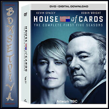 HOUSE OF CARDS-COMPLETE SEASONS 1 2 3 4 & 5 - ALL 5 SEASONS*BRAND NEW DVD BOXSET