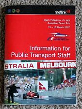 """Metlink Info For Public Transport Staff"" , G/Prix , March 2007 , Excellent Con"