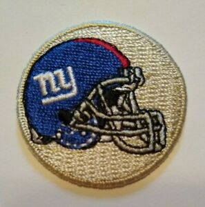"""New York NYG Giants Embroidered PATCH~1 1/2"""" Round~Helmet~Iron Sew On~NFL"""