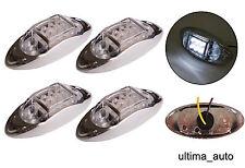 4x 6 LED BLANC TRANSPARENT LATÉRAL CHROME FEUX DE POSITION Lampes pour