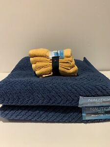 Nautica Birch Bath Towels (2) and Set Of (4) Wash Cloths