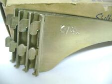 "4 Knape Vogt 10"" Brass Tap Down Slot No. 180 Shelf Brackets, K.V."