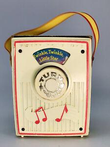 Vintage Fisher Price Music Box Pocket Radio #767 Twinkle Twinkle Little Star