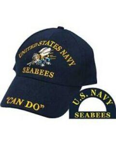 U.S. Navy Seabees Ball Cap, High Quality, 100% Cotton