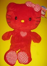 Build-A-Bear 18 in RED HELLO KITTY with GINGHAM CHECKERED BOW