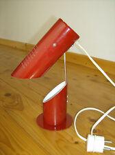 1960er vintage lamp Klapplampe  - RÖHRENLAMPE - Metall - space rot !!!!!