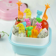 10 pcs Bento Cute Animal Food Fruit Picks Forks Lunch Box Accessory Home Decor