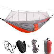 Portable Travel Camping Hammock Hanging Nylon Fabric Parachute Hang Bed Outdoor