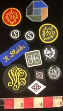 Vintage 12 Patch Lot Of Mixed Patches - Many Are Unknown Designs 03DD