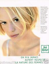 Publicité advertising 1997 Cosmétique produits de beauté Yves Rocher