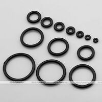 100x Rubber O-Rings Replacement For Taper Plugs Ear Band Expander Piercing Gauge