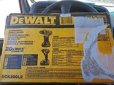 DEWALT 20V MAX HAMMER DRILL / IMPACT DRIVER COMBO KIT DCK290L2 NEW!