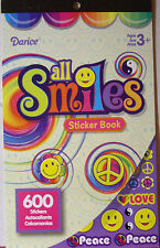 NEW 600 pc ALL SMILES STICKER BOOK Smiley Face Peace SignYin Yang Flowers DARICE