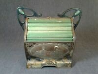 Art Nouveau Huntley & Palmers Roll Top Biscuit Tin C1880