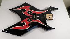 COOL B.C. BC Rich Warlock Guitar Body Black Red Tribal KKW Badass Bridge