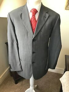 Boss Hugo Boss Ermenegildo Zegna Grey Silk Wool Jacket 42 Mint Condition