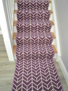 Extra Long Stair Carpet Runners Heather Purple Rugs Very Narrow Stairway Mats