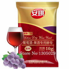 Yeast Alcohol,Active Dry Wine Yeast ,Used For Red Wine Brewing 10g/Bag 5 Packs