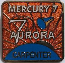 Mercury 7 Aurora Lapel Pin Official NASA Space Program Edition