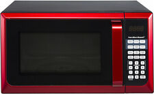 New Hamilton Beach 900W 0.9 Cu. Ft. Counter-Top Red Microwave Oven