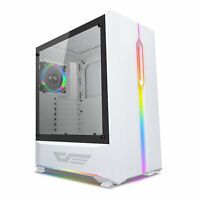 ATX Mid-Tower Gaming PC Case darkFlash T20 Tempered Glass LED RGB Strip USB 3.0