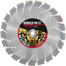"Diamond Saw Blade Concrete Granite Brick Fast Cut High End 14"" Shocker RX13"