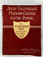 Vintage John Thompson's Modern Course for the Piano Second Grade Book 1937 Music