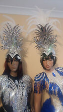 Samba Giant MIRROR Headdress-pieces Costumes Brazilian Outfit-add extra feathers