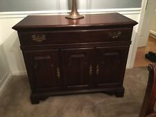 Ethan Allen Georgian Court Cherry Flip Top Server Sideboard Liquor Cabinet Bar