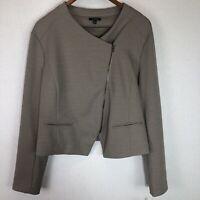 NWT APT 9 Women's Cropped Jacket Blazer Moto Brown Tan Size XL Asymmetrical Zip