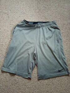 Nike Dri-Fit Shorts, Small, Grey.