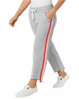 Calvin Klein Performance Womens Plus Varsity Stripe Sweatpants 3X Orange