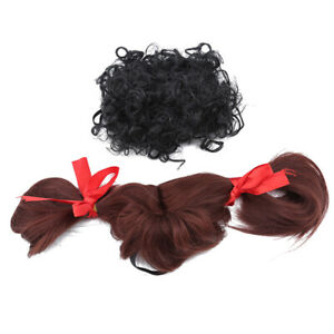 Pet Dog Cat Straight Curly Wig Hair Headdress Cosplay Costume Accessory SK