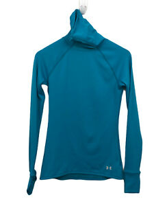 Under Armour UA Women's Fly By Turtleneck size M Teal Fitted Running Top
