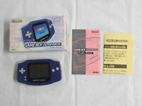 U1128 Nintendo Gameboy Advance console Violet Japan GBA w/box