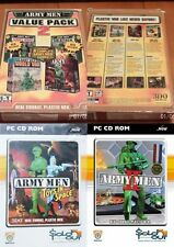 army men 1 & 2 & sarges heroes & air attack & world war & toys in space