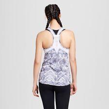c9 Champion Women's Run Singlet Tank Top Gray Print size 2XL