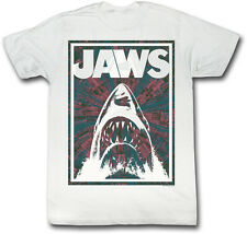 Jaws Red Black & White Framed Jaws Adult T Shirt Classic Movie