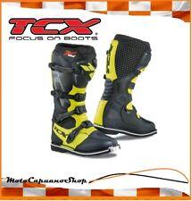 STIVALI TCX MOTO CROSS ENDURO X-BLAST  BLACK/YELLOW FLUO TAGLIA 41