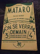 partizione di Mataró AndrÉ Cuiret On si Ci vediamo domani 1954